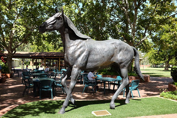 Northerly Statue at Ascot Races